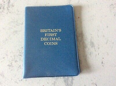 Britain's First Decimal Coins - 1968-1971 New Pence 5 Coin Set