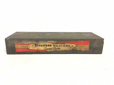 Antique Firestone Tires OILSTONE Pocket Knife Silicone Carbide sharpening stone