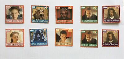Star Wars - Episode I - Phantom Menace 10 Walkers Crisps Scratchcards From 1999