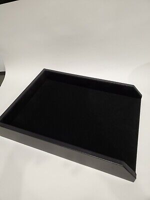 Open Box - Front Load Leather Black Letter / Legal Tray - Dacasso