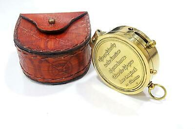 Thoreau's Go Confidently Poem Engraved Solid Brass Pocket Compass New year gift