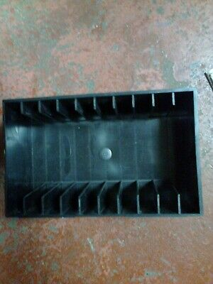VINTAGE BLACK CASSETTE STORAGE RACK  - (r2)