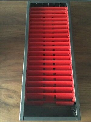 CD DVD Storage Holder Rack Wall Mountable Retro VINTAGE 1980s W H SMITH
