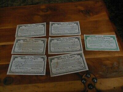 7ea Mothers Oats premium coupons. Exp. date 1940