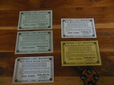 5ea premium coupons Foods Plus Inc. 62 W 45th St. New York 36 N.Y. Think 1940's