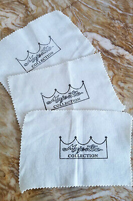 Majestic Hotel Collection - Shoe Shine Cloths - Three 10.75 x 7.5""