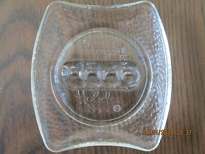 Vintage Clear Glass Ashtray Holiday Inn