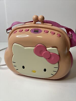 2003 Sanrio Hello Kitty Pocketbook Purse AM/FM Stereo CD Player Tested