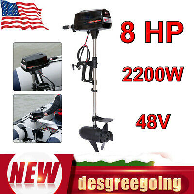 48V 8.0HP 2200W Electric Outboard Brushless Motor Inflatable Fish Boat Engine US