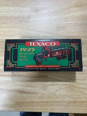 Texaco 1925 Kenworth Stake Truck Locking Coin Bank  Collector Series #9 NIB