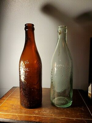 2 Crown Beer Bottles Darley Park GBS & Bartholomay Brewery Baltimore MD Antique