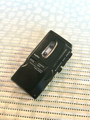 Sanyo M-5699 Two Speed Microcassette Tape Recorder w/ Voice Activated Recording.