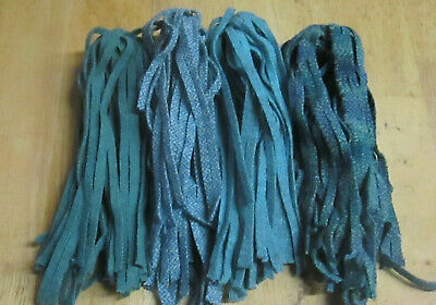 8 Great Ombre Stripes 200 Rug Hooking or Punch Needle Wool Fabric Strips #4 cut