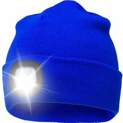 USB Rechargeable LED Beanie Light Hat Battery Thin Insulate Winter Warm Material