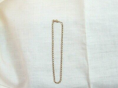 10 2.6mm Diamond Cut Figaro Chain Anklet Real 14K Solid White Gold 0.9gr