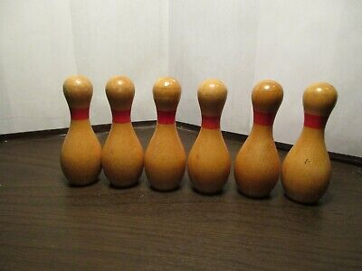 Vintage Bowler Bowling Pins Miniature Plastic Toy Cake Topper Decorations 1970s