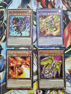 GAIA DECK 42 The Magical Knight of Dragons Fierce Soldier Spiral Turtle YuGiOh