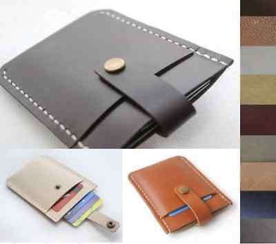 wallet purse cow Leather Credit Card Cover Cases ID Holders bag Customize A156
