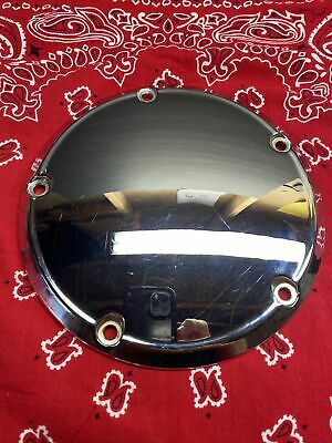 CHROME PRIMARY 3 HOLE DERBY COVER fits 1970-1998 FLH FLHR SOFTAIL FLT DYNA