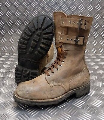 Suede Army Boots Size 40 NEW FB402 Genuine French Foreign Legion Brown Leather