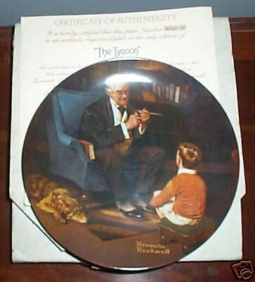 Authentic Norman Rockwell The Tycoon Plate