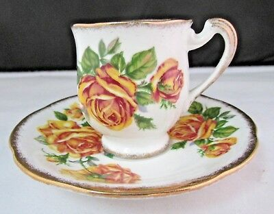 Royal Standard Romany Rose Demitasse Cup & Saucer