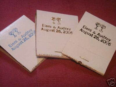 50 PERSONALIZED imprinted MATCHES matchbooks wedding