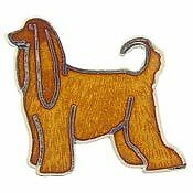 Afghan Hound Lapel Pin