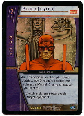 VS System • FOIL Blind Justice MMK-030 MArvel's Knight ENGLISH CARD