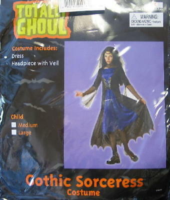 Child's Gothic Sorceress Halloween Costume Medium