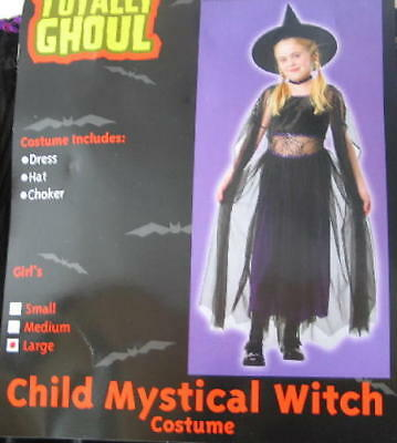 Child's Mystical Witch Halloween Costume, Medium 5-7