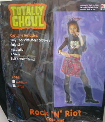 Girl's Rock 'n' Riot Halloween Costume, Medium 5-7