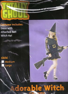 Child's Adorable Witch Halloween Costume NEW Medium 5-7