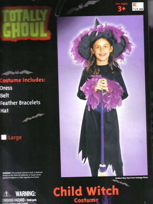 Child's Witch Halloween Costume, NEW Large 8-12