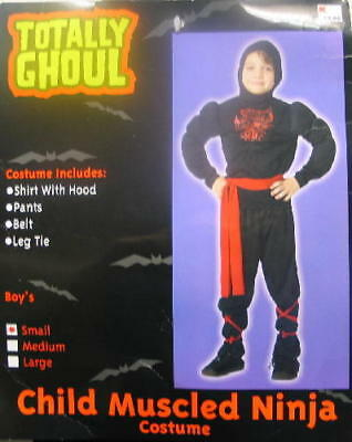 Child's Muscled Ninja Halloween Costume, Medium 5-7