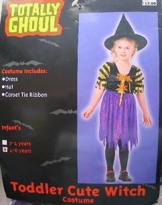 Toddler Cute Witch Halloween Costume, 4-6 Years