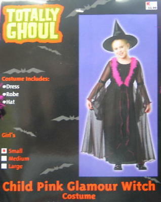 Child's Pink Glamour Witch Halloween Costume, Small 3-4