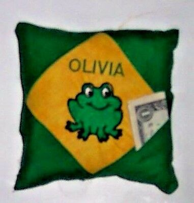 PERSONALIZED Tooth Fairy Pillow - Adorable Frog Design!