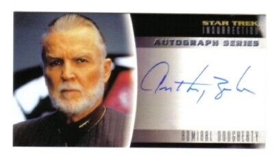 Star Trek Insurrection Movie Anthony Zerbe Autograph Card A10 Skybox 1998 MINT
