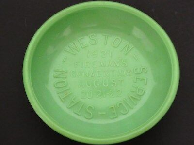 Rare Akro / Westite  Embossed Fireman's Convention Commemorative Ashtray
