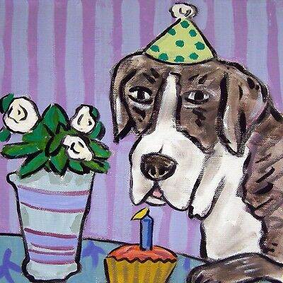 great dane birthday picture animal coaster dog art tile
