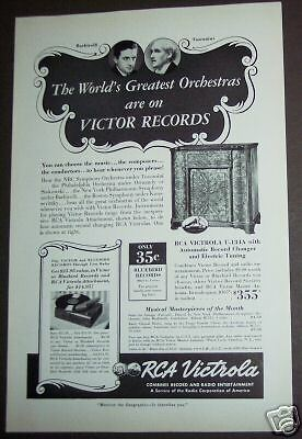 1939 vintage AD Orchestras on Victor Records RCA Victrola