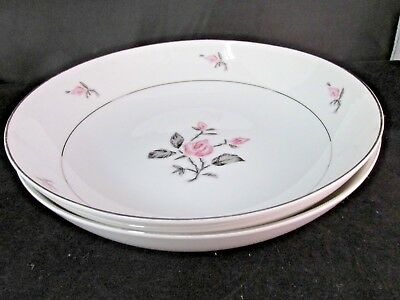 """Pattern 8097 Flora by Jyoto China Round Vegetable BowlS TWO 9 1/4"""""""