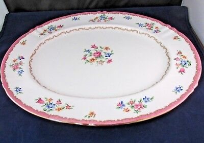PATTERN F16165 by Crown Staffordshire Floral Large Oval Platter 15 1/4""