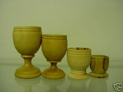 """Olive Wood Communion Cups-Cup 2.4""""-The Holy Land"""