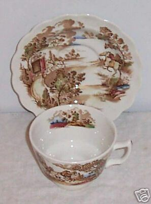 Coaching Days Multicolor by Ridgway Cup & Saucer