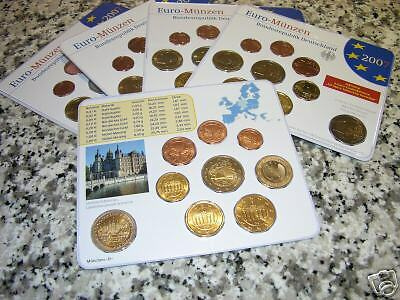 2007 5 blister x 9 monete Germania allemagne alemania