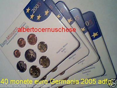 2005 5 x 8 monet 19,4 euro ADFGJ Germania allemagne germany Deutschland Alemania