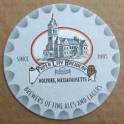 Paper City Brewery BEER LABEL SUMMER BREW Massachusetts Brewing Since 1995