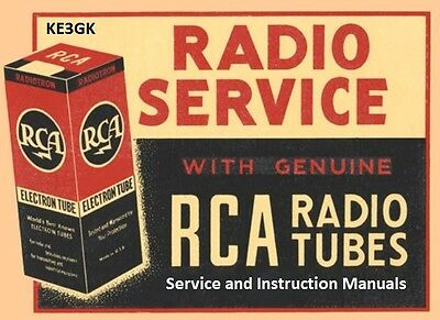 RCA Service and Instruction Manuals * DVD * PDF